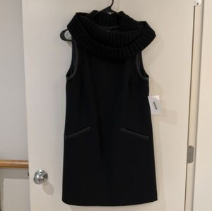 Theory Black Turtleneck Sleeveless Dress 4